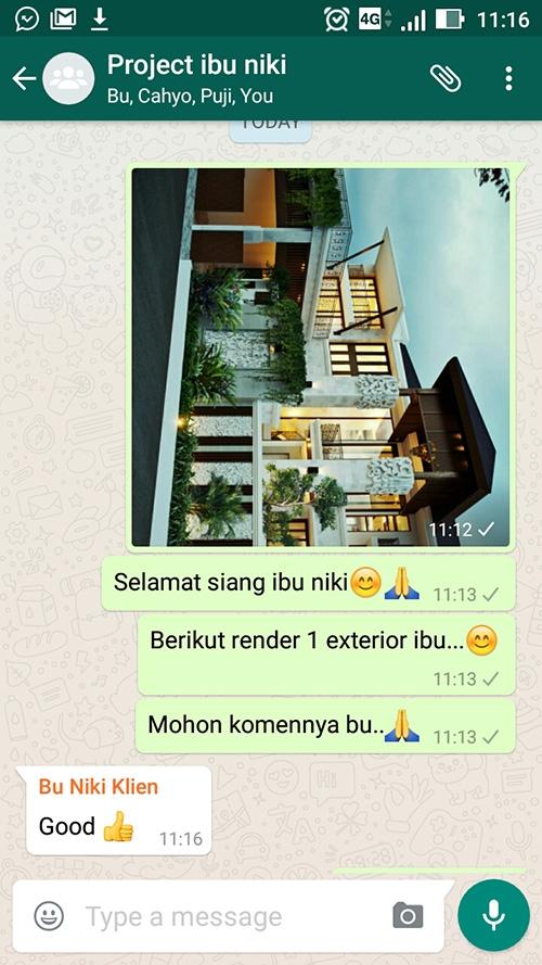 Testimonial Desain Rumah Villa Bali 2 Lantai Ibu Niki Umar