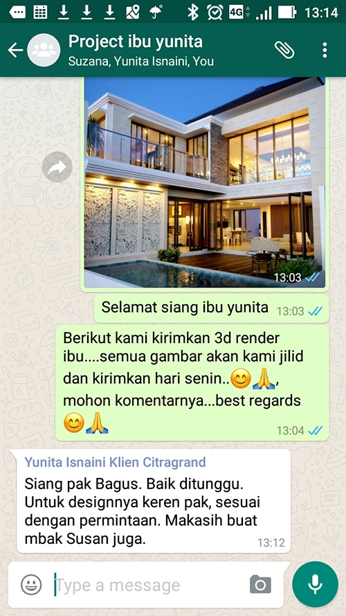 Testimonial Desain Rumah Villa Bali 3 Lantai Ibu Yunita