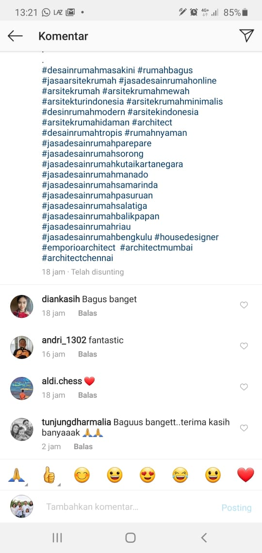Testimonial dr. Tunjung Villa Bali House 1 Floor Design - Bengkulu