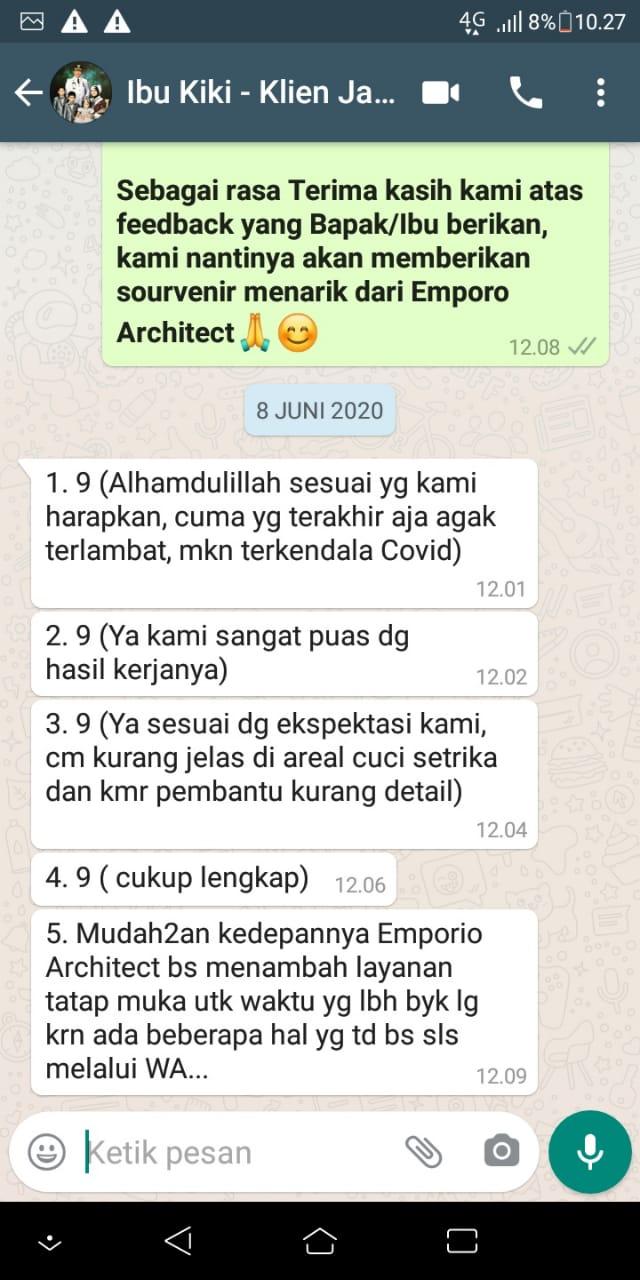 Testimonial Mrs. Kiki Modern House 2 Floors Design - Bogor, Jawa Barat