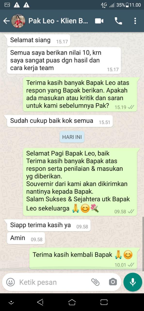 Testimonial Mr. Leo Modern House 2 Floors Design - BSD, Tangerang Selatan, Banten