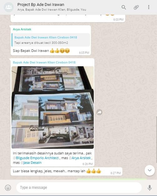 Testimonial Desain Rumah Modern 2 Lantai Bapak Dwi Irawan di  Cirebon, Jawa Barat