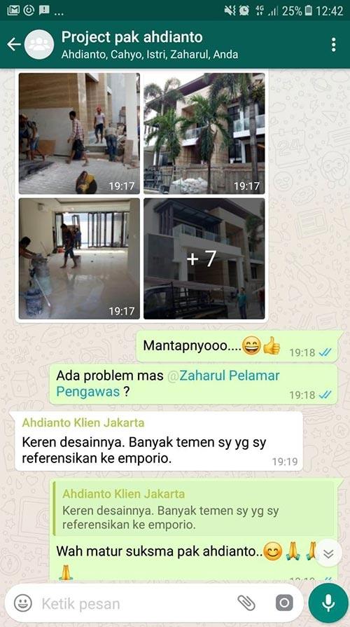 Testimonial Desain Rumah Modern 2 Lantai Bapak Ahdianto
