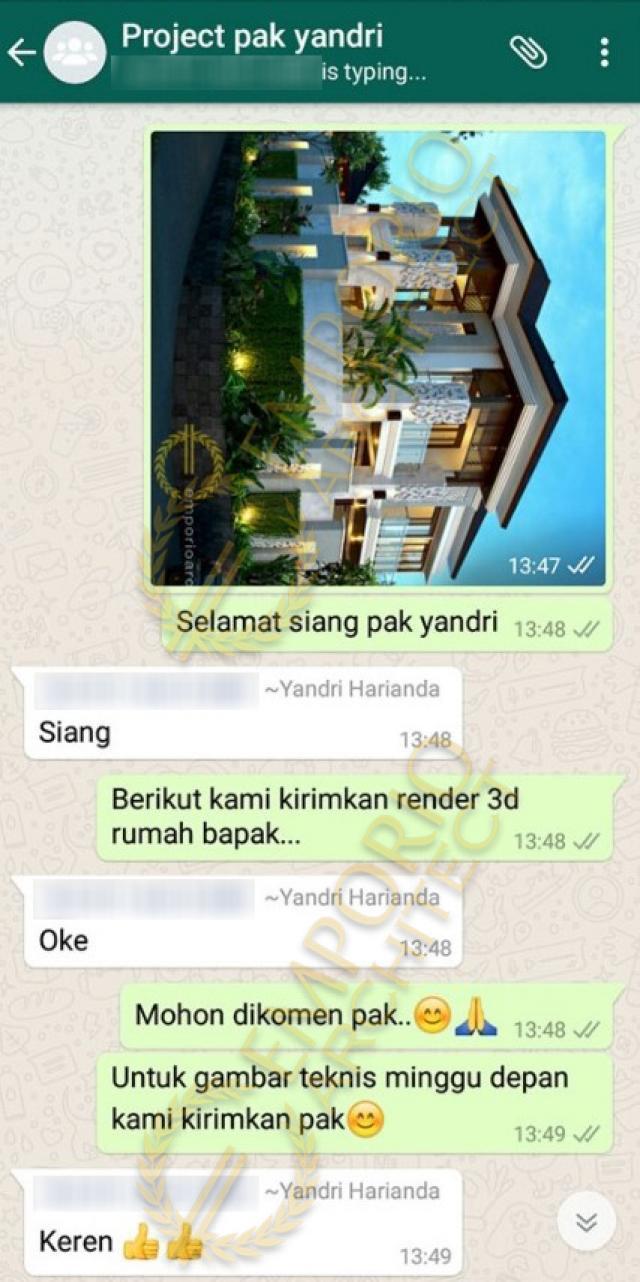 Testimonial Desain Rumah Hook Villa Bali 2 Lantai Bapak Yandri