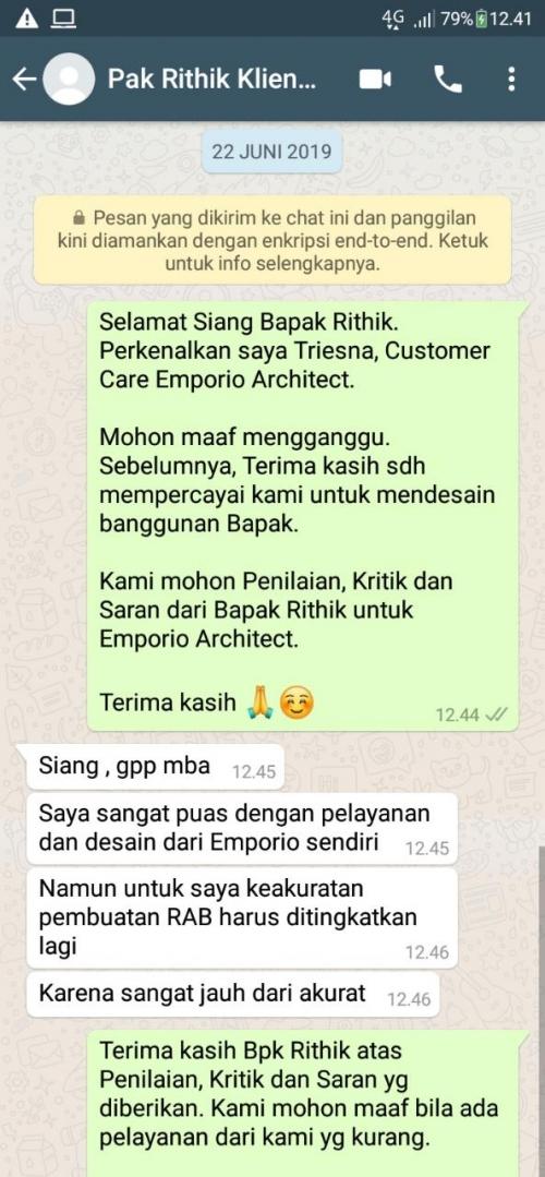 Testimonial Desain Rumah Villa Bali 2 Lantai Bapak Rithik