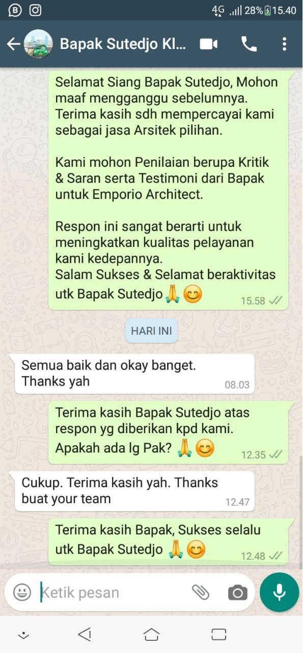 Testimonial Mr. Sutedjo Classic House 3 Floors Design - Jakarta
