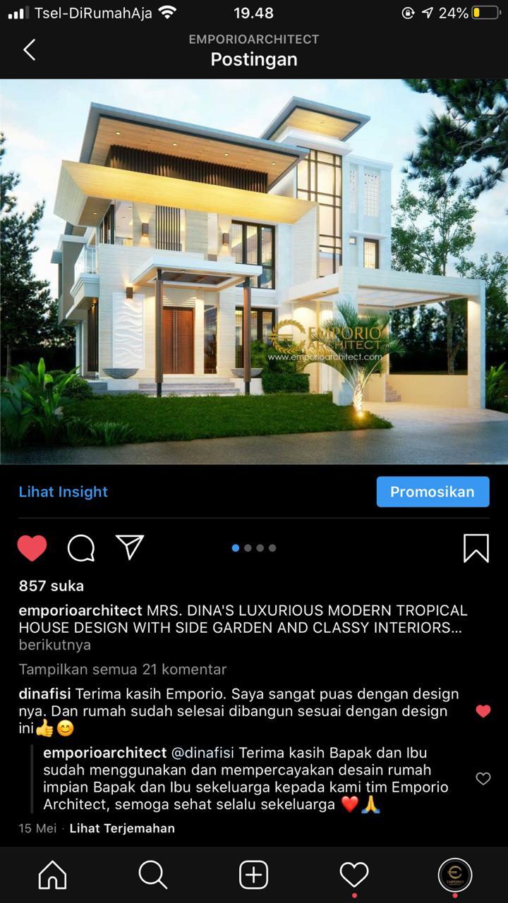 Testimonial Desain Rumah Modern 2 Lantai Ibu Dina
