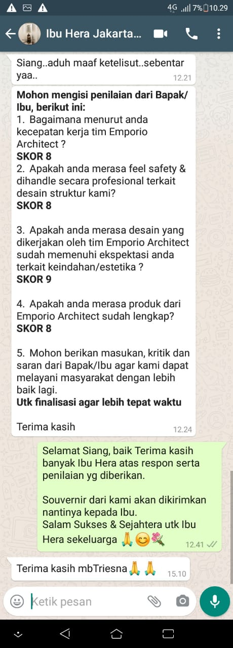 Testimonial Mrs. Hera Classic House 2 Floors Design - Jakarta Selatan