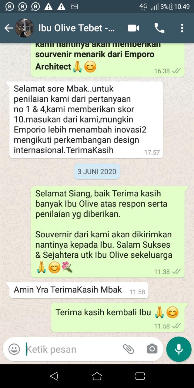 Testimonial Mrs. Olive Mediteran House 3.5 Floors Design - Jakarta Selatan