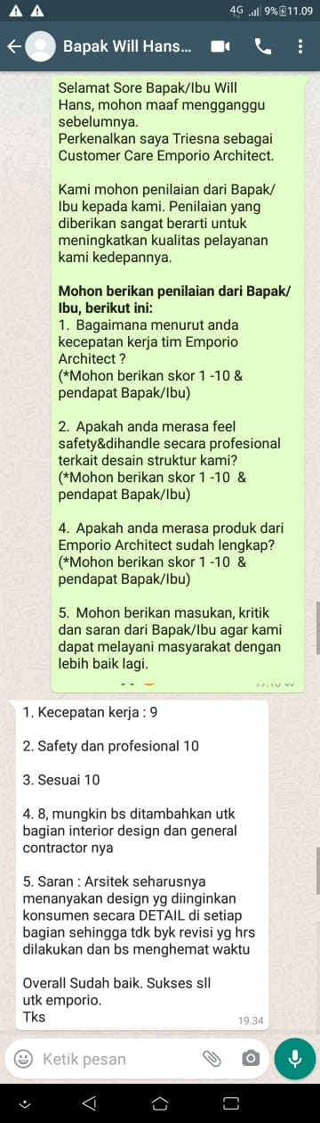 Testimonial Mr. Will Hans Classic House 3 Floors Design - Jakarta Timur