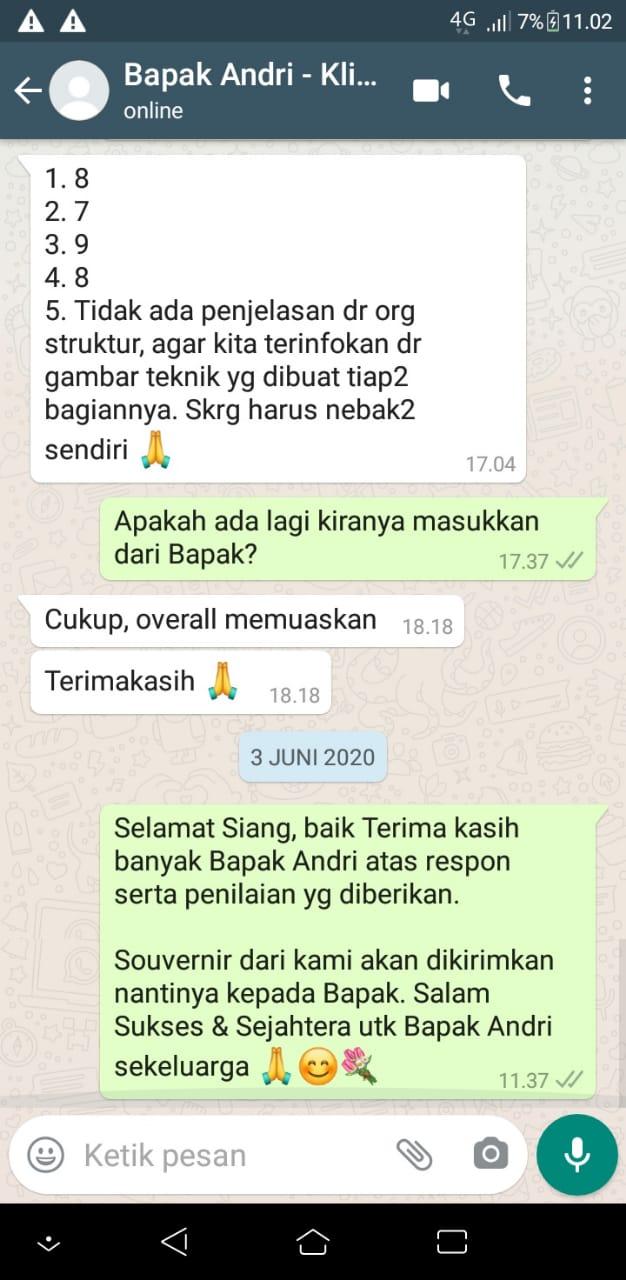 Testimonial Mr. Andri Modern House 2 Floors Design - Jakarta Timur