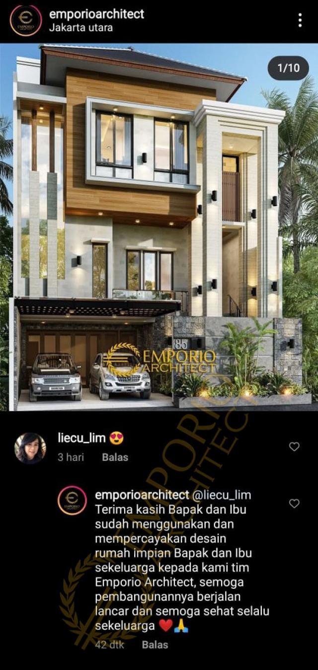 Testimonial Mr. Toni Tchin Modern House 4 Floors Design - Jakarta Utara