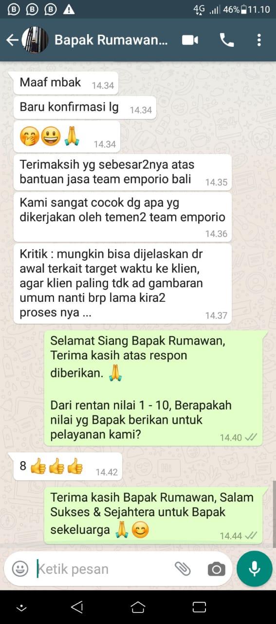 Testimonial Mr. Yudi Rumawan Modern House 2 Floors Design - Ngawi, Jawa Timur