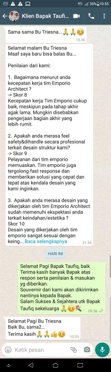 Testimonial Desain Rumah Villa Bali 1 Lantai Bapak Taufik Hidayat di  Padang, Sumatera Barat