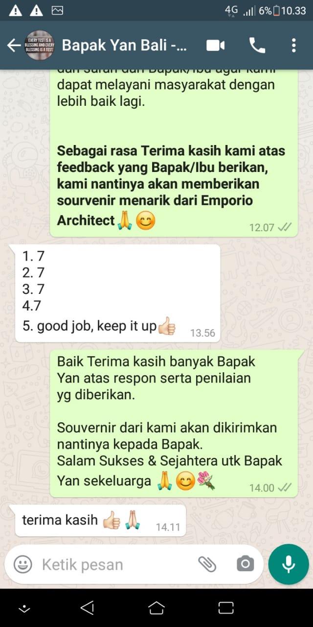 Testimonial Desain Villa dan Ruko Modern 2 Lantai Bapak Yan