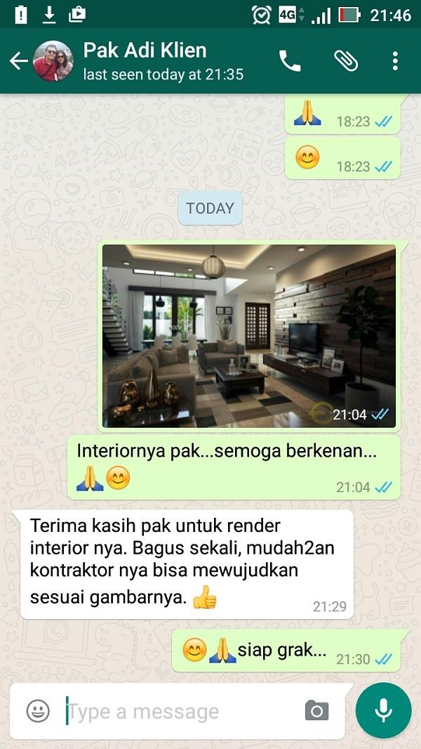 Testimonial Desain Rumah Modern 2 Lantai Bapak Adi Wardono