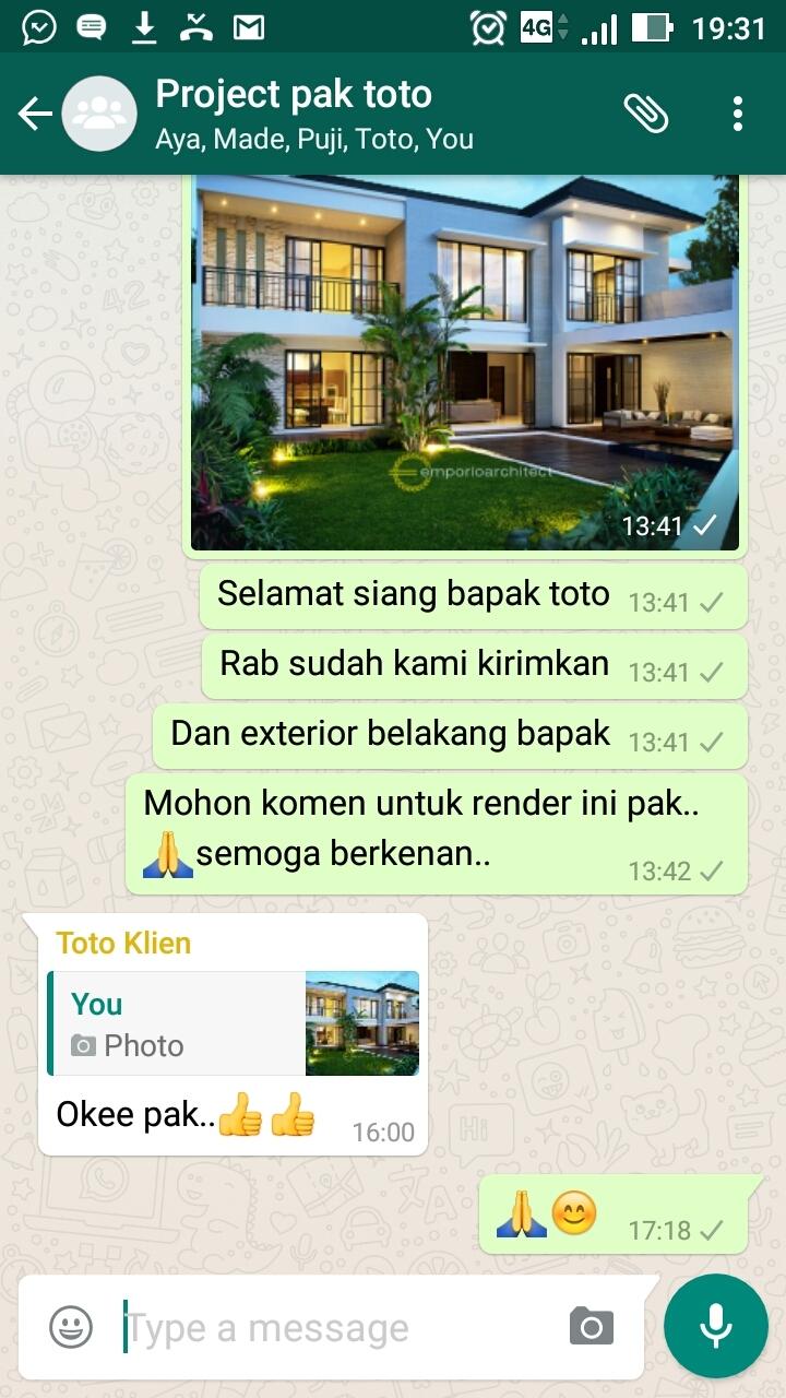 Testimonial Desain Rumah Modern 2 Lantai Bapak Toto