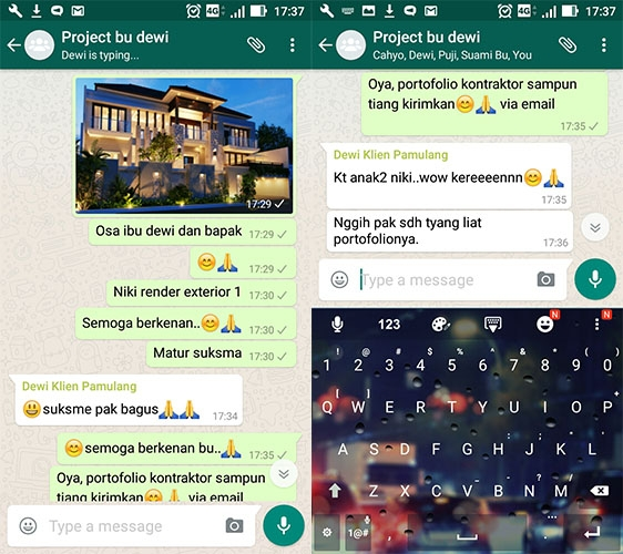 Testimonial Desain Rumah Villa Bali 2 Lantai Ibu Dewi Ariyanti