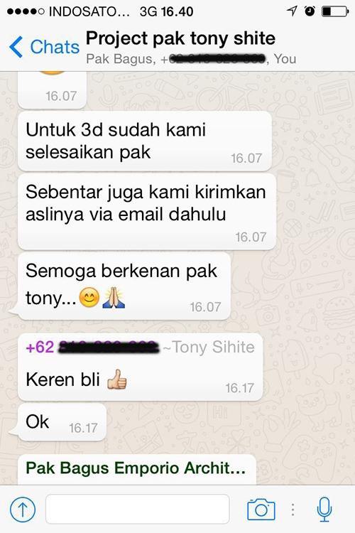Testimonial Desain Rumah Villa Bali 2 Lantai Bapak Tony