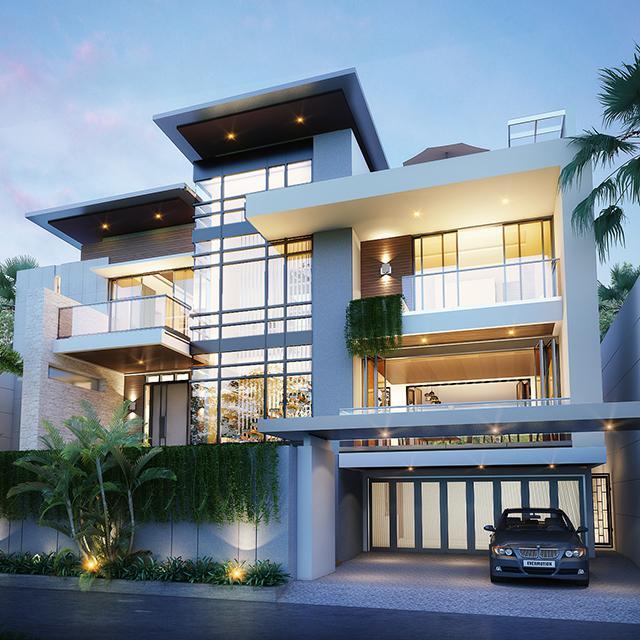 Desain Rumah Modern 3 Lantai Bapak Willy di Dago Pakar, Bandung