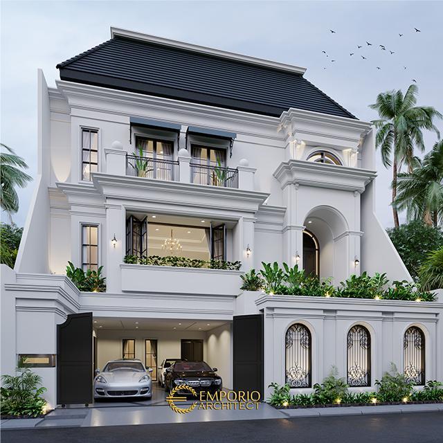 Desain Rumah Mediteran 3 Lantai Ibu Widyana di Jakarta