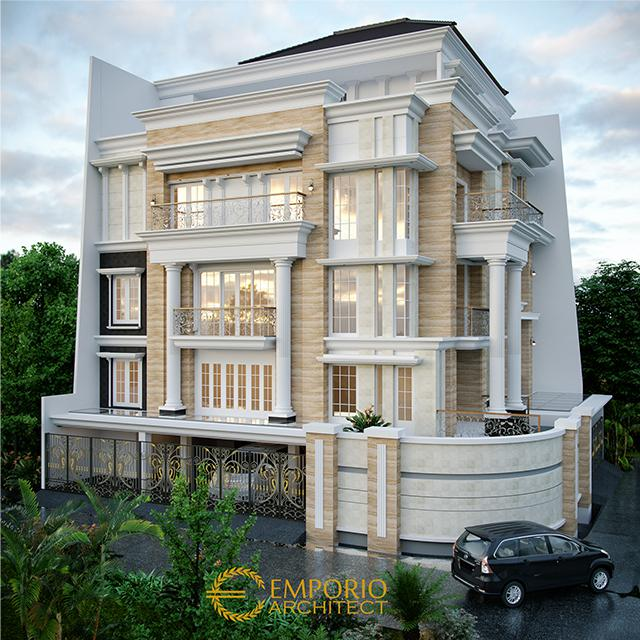 Desain Rumah Classic 3.5 Lantai Bapak Sulaiman di Bandung, Jawa Barat