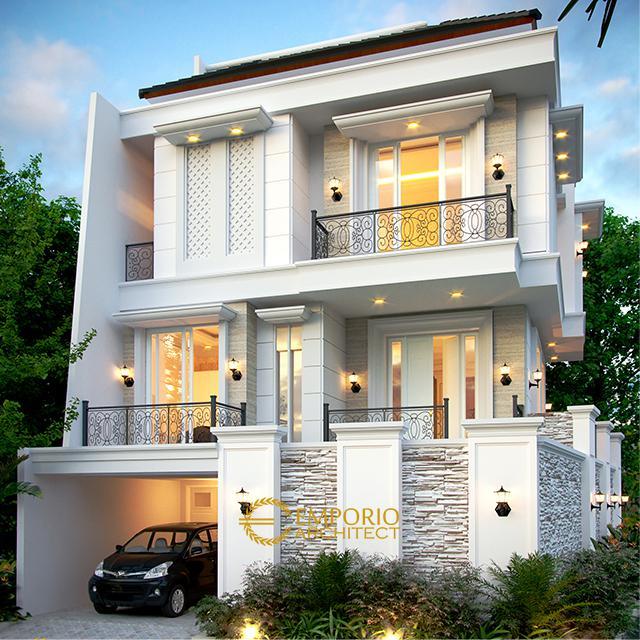 Desain Rumah Classic 3.5 Lantai Ibu Fitri di Jakarta Utara