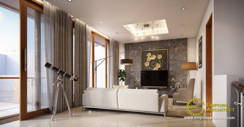 Interior Design Mr. Nursantyo Villa Bali House 3 Floors Design - Jakarta
