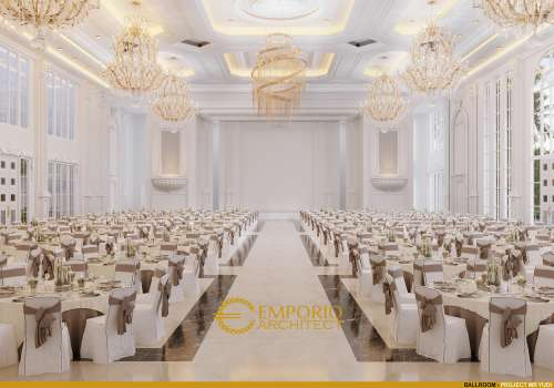 Desain Interior Desain Convention Hall Classic 2 Lantai Bapak Yudi