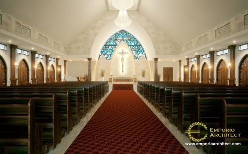 Interior Design Capela Curacao De Jesus Modern Church 1 Floor Design - Timor Leste