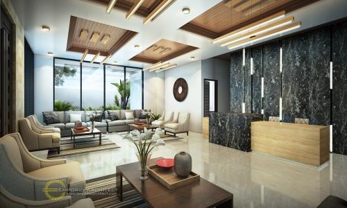Desain Interior Desain Kantor Modern 3 Lantai Bapak Wiantono