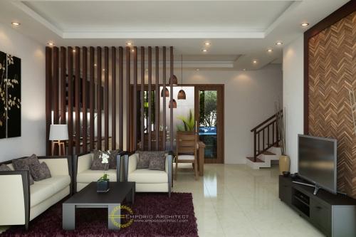 Desain Interior Desain Perumahan Villa Bali 2 Lantai Bapak Dipa