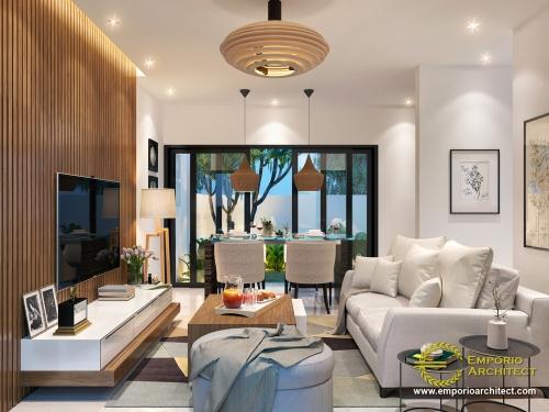Desain Interior Desain Perumahan Modern 2 Lantai Green Bamboo Terrace