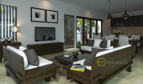 Desain Interior Desain Rumah Villa Bali 1 Lantai Bapak Adit Brata