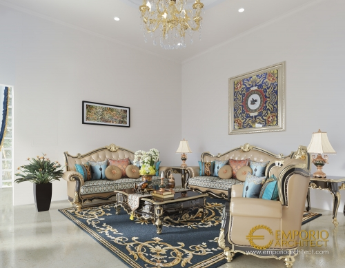 Desain Interior Desain Rumah Classic 2 Lantai Bapak Baron