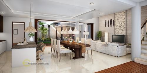 Desain Interior Desain Rumah Villa Bali 2 Lantai Bapak Budi