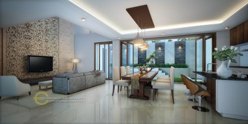 Desain Interior Desain Rumah Modern 3 Lantai Bapak Didit
