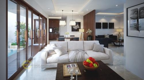 Desain Interior Desain Rumah Villa Bali 2 Lantai Bapak Donald