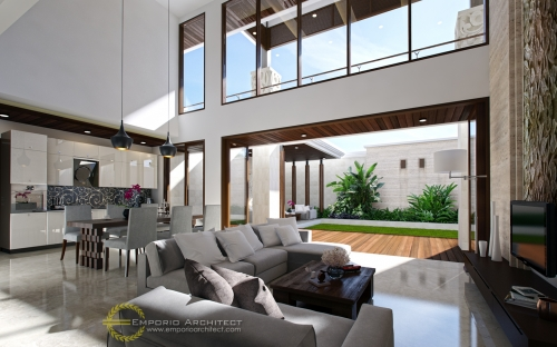 Desain Interior Desain Rumah Villa Bali 2 Lantai Bapak Edmon