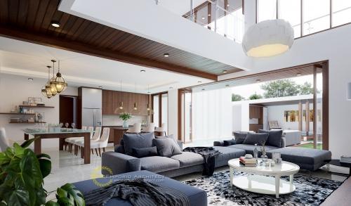 Desain Interior Desain Rumah Modern 2 Lantai Bapak Edo