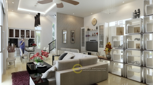 Desain Interior Desain Rumah Classic 2 Lantai Bapak Endra Zulpan