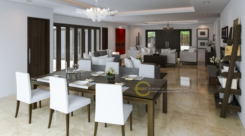 Desain Interior Desain Rumah Villa Bali 1 Lantai Bapak Farman Ali