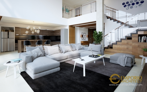 Interior Design Mr. Indra Modern House 2 Floors Design - Bandung