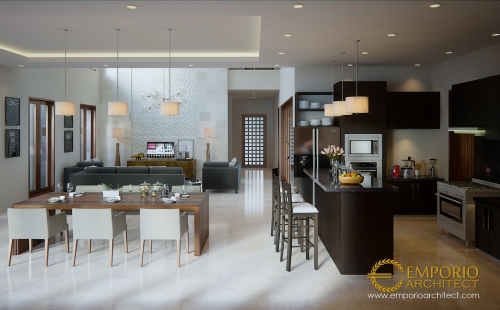 Desain Interior Desain Rumah Villa Bali 2 Lantai Bapak Nyoman Joni