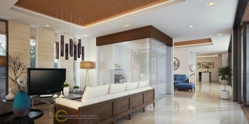 Desain Interior Desain Rumah Modern 2 Lantai Bapak Mega