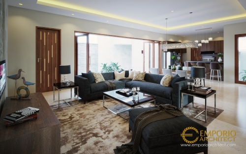 Desain Interior Desain Rumah Villa Bali 1 Lantai Bapak Taufik Hidayat
