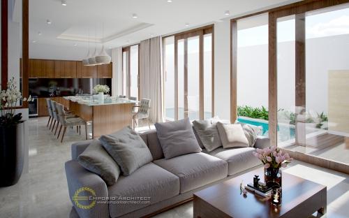 Desain Interior Desain Rumah Modern 3 Lantai Ibu Elly