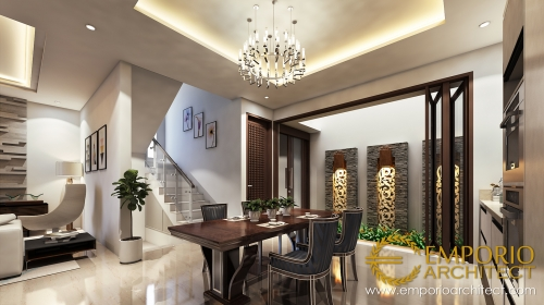 Interior Design Mr. Visnu Villa Bali House 2 Floors Design - Cibubur, Jakarta Timur