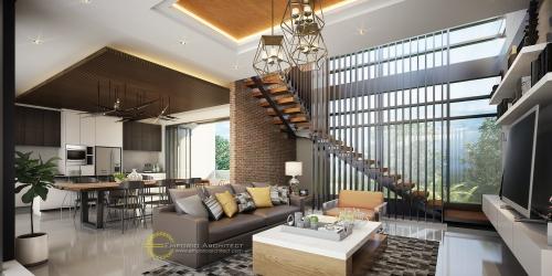 Desain Interior Desain Rumah Modern 4 Lantai Bapak Willy