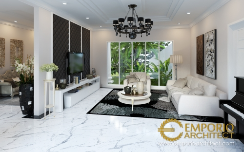 Desain Interior Desain Rumah Classic 2 Lantai Bapak Yanson Hutabarat